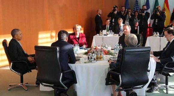 Los líderes de occidente tratan de aislar a Rusia del ámbito geopolítico y económico internacional con la aplicación de más sanciones. Foto: EFE.