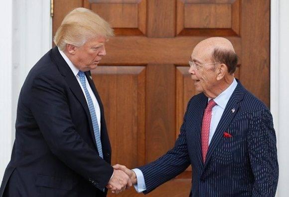 Millonario Wilbur Ross secretario Comercio de Trump.