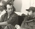 Silvio Rodríguez, Vicente Feliú y Fidel en Casa de las Américas. Foto: