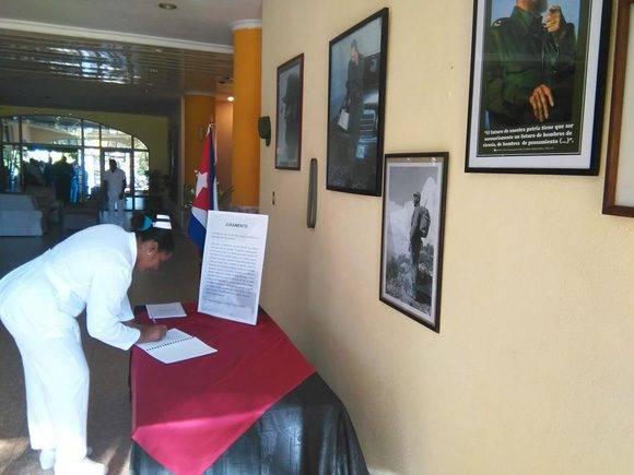 Firma del Juramento en el Centro Internacional de Salud La Pradera.