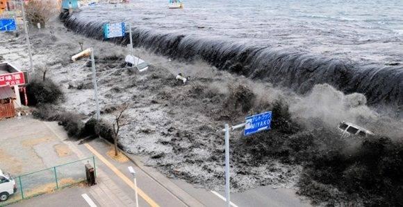 Imagen del Tsunami del 2011, en Fukushima. EFE