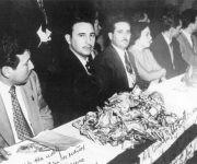 Juan Manuel Márquez junto al líder de la Revolución Cubana, Fidel Castro. Foto: Archivo de la Oficina de Asuntos Históricos del Consejo de Estado.