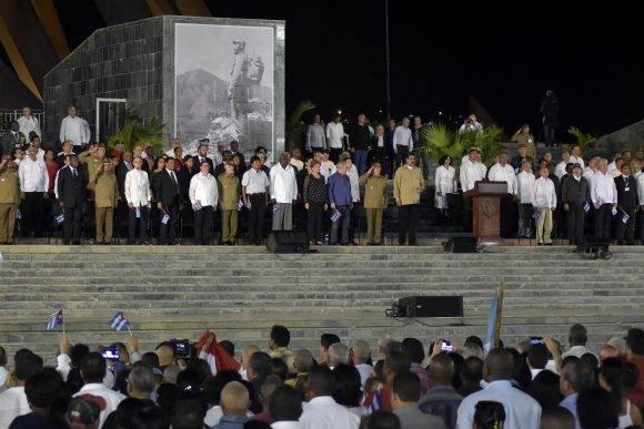 Personalidades de Cuba y el Mundo junto a la familia de Fidel en el tributo al Líder. Foto: raúl Abreu / Cubadebate