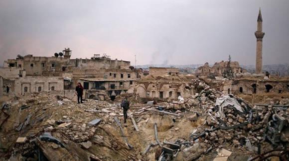 Los desastres de la guerra en Alepo. Foto: Reuters.