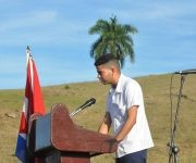 Alejandro Hidalgo Yero, presidente de la FEU  en la universidad de Ciencias Médicas en Granma,  expresó que la juventud cubana no le fallará a Fidel y a la Revolución. Foto: La Demajagua.