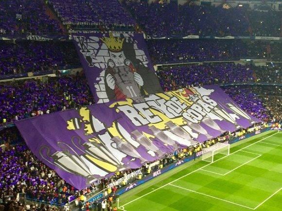 Así estaba el Bernabéu antes de comenzar el partido. Foto: Captura de pantalla.