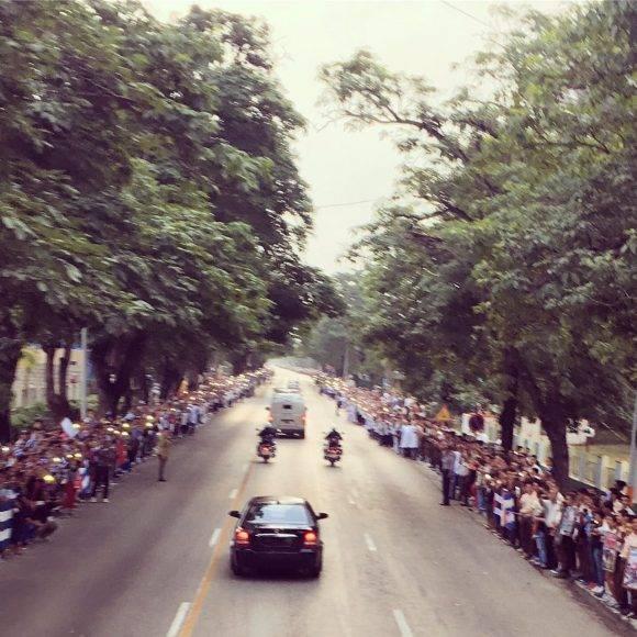 La Caravana saliendo de Bayamo. Foto: Ladyrene Pérez / Cubadebate