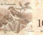 Billete de cien bolívares. Foto: Catálogo Numismático de Venezuela.