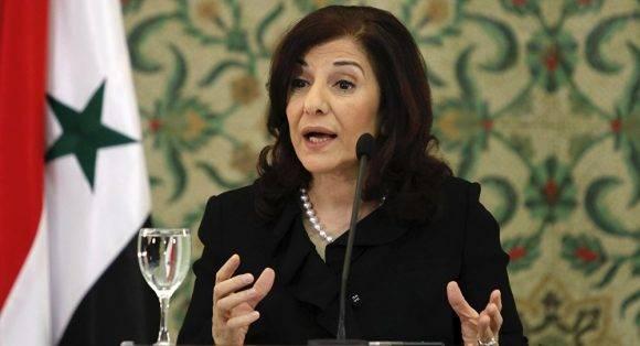 Bouthaina Shaaban. Foto tomada de Sputnik.