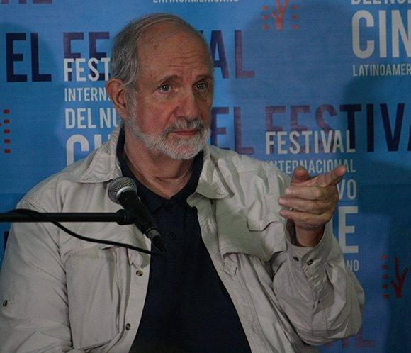 Brian de Palma habló sobre sus experiencia en el cine. Foto: José Raúl Concepción/ Cubadebate.