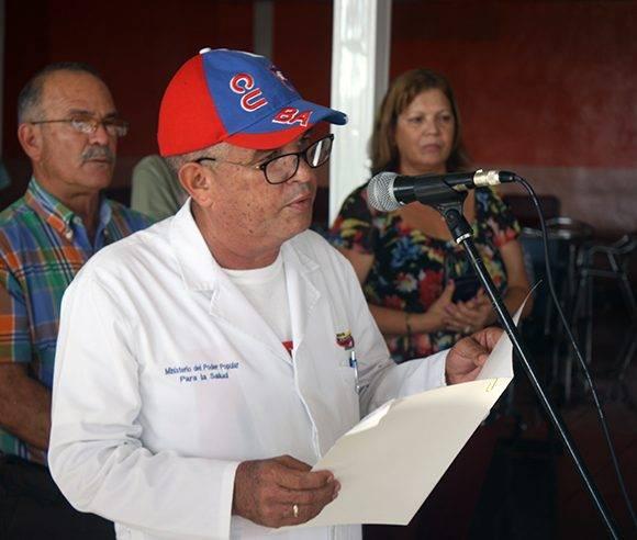 El doctor Alexis Díaz Ortega, jefe de la brigada médica. Foto: José Raúl Concepción/ Cubadebate.