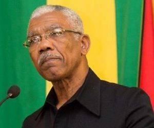 David A. Granger, presidente de Guyana. Foto: Archivo.