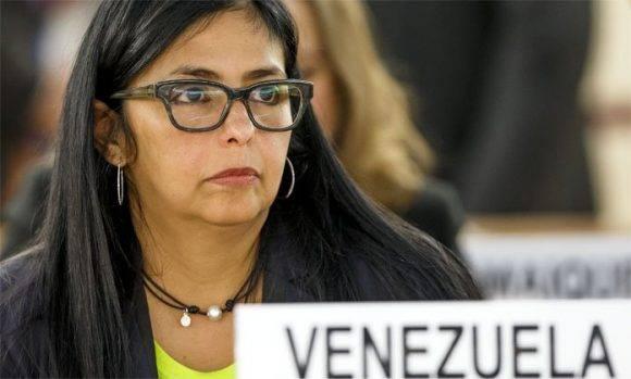 Delcy Rodríguez afirma que Venezuela se retirará de la OEA si esa organización actúa sin su consentimiento. . Foto tomada de El Impulso