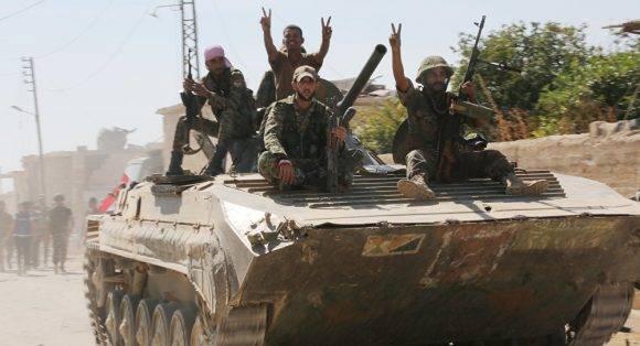 Miembros del ejército sirio en Alepo. Foto: Sputnik.