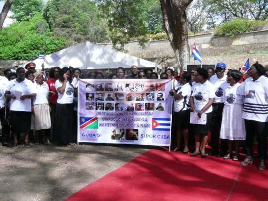 El presidente de la República de Namibia Hage Geingob presidió una emotiva velada solemne en recordación del Comandante en Jefe Fidel Castro Ruz