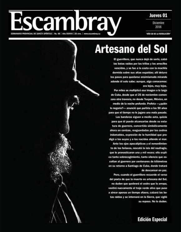 Periódico Escambray, edición especial, jueves 1 de diciembre de 2016