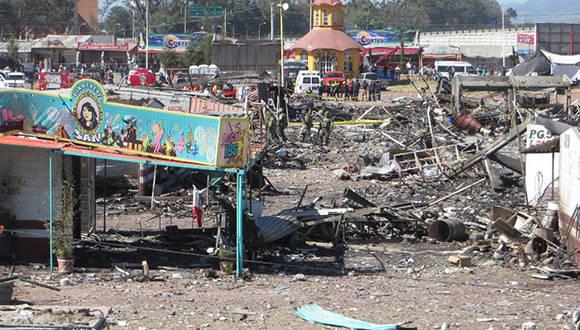 Escombros como resultado de la explosión. Foto: Mario Antonio Núñez.