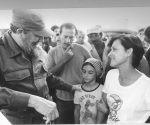 Fidel en la Escuela Internacional de Cine y Televisión de San Antonio de los Baños