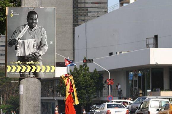 """""""Mi Rollo, Mi Película"""", fue la idea que guió la campaña de comunicación en el 38 Festival Internacional del Nuevo Cine Latinoamericano, también conocido como Festival de Cine de La Habana. Foto: José Raúl Concepción/ Cubadebate."""