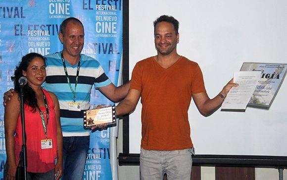 """El Premio """"Vigía"""", de la subsede matancera del Festival fue para """"Esteban"""", de Jonal Cosculluela. Foto: José Raúl Concepción/ Cubadebate."""