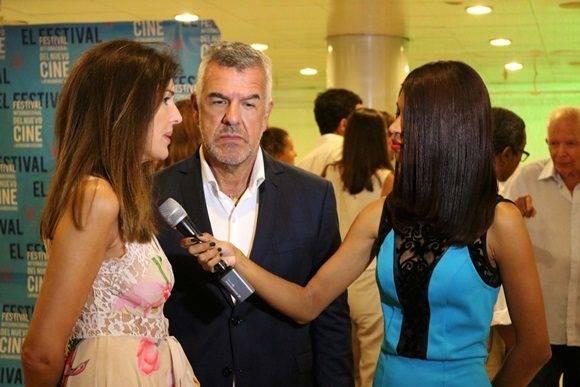 Los actores argentinos Andrea Frigerio y Dady Brieva, (Irene y Antonio en el filme proyectado) asistieron a la gala.