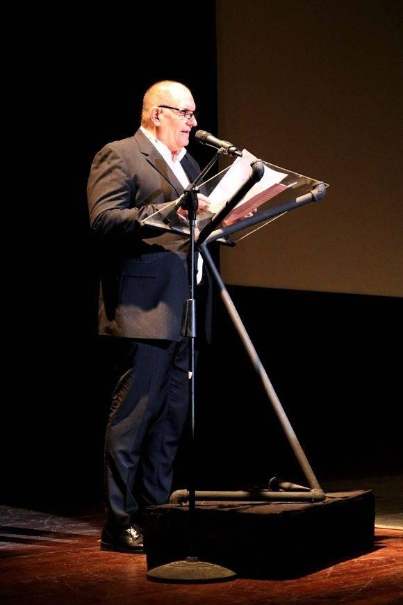 Iván Giroud, director del Festival Internacional del Nuevo Cine Latinoamericano, pronunció las palabras de apertura.