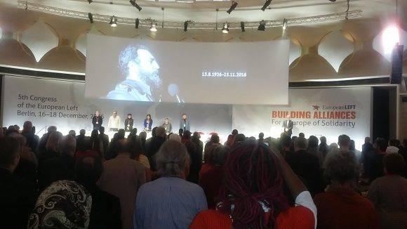 Izquierda Europea rinde homenaje Fidel Castro