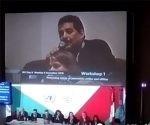 Iroel interviene en el panel sobre persecución a periodistas en el Internet Global Forum 2016. Foto: La Pupila Insomne.