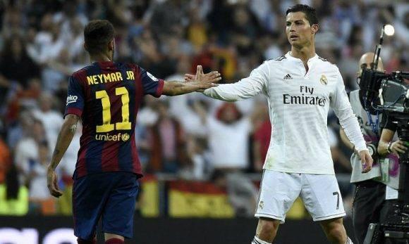 Neymar y Cristiano Ronaldo. Foto: Getty Images.