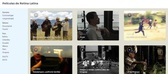 Captura de pantalla de Retina Latina.