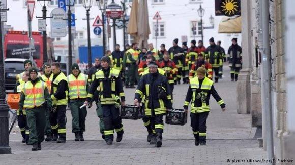 Policía desactiva bomba en Augsburgo. Foto: DPA.