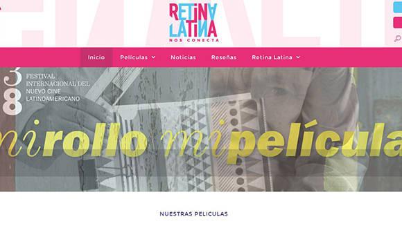 Captura de pantalla del sitio de Retina Latina.