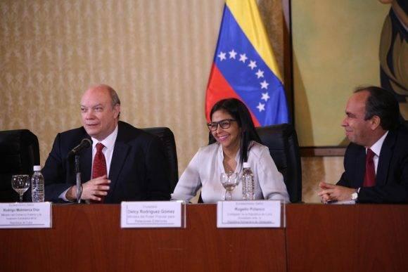 Imagen tomada durante la XVII Comisión Intergubernamental de Cooperación Cuba-Venezuela. Foto: @vencancilleria.