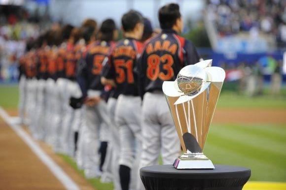 Equipo japonés antes de la final del II Clásico Mundial de Béisbol. Foto Getty Images.