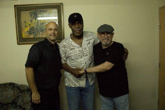 Gerardo, Danny Glover y Silvio. Foto: Pepín, el Obrero/ Segunda Cita
