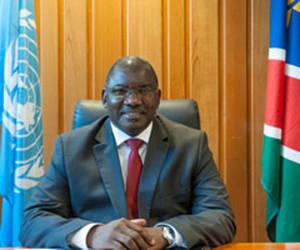 Stanley Mutumba Simataa, presidente de la Conferencia General de la Unesco. Foto: UNESCO/ P. Chiang-Joo.