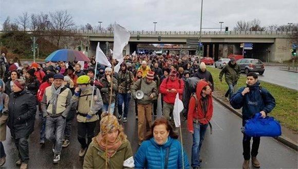 La marcha comenzó este lunes 26 de diciembre en Berlín. Foto: AP.