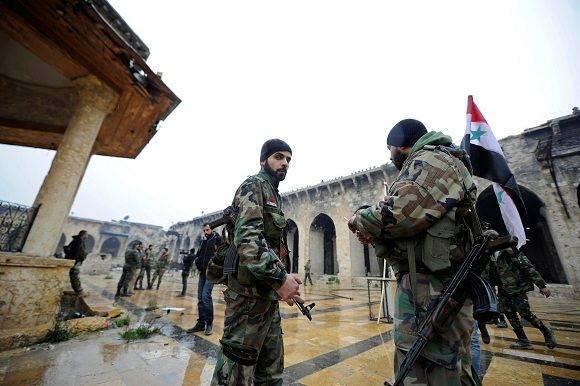 Tropas del Ejército sirio reconquistan Alepo. Foto: Agencias.