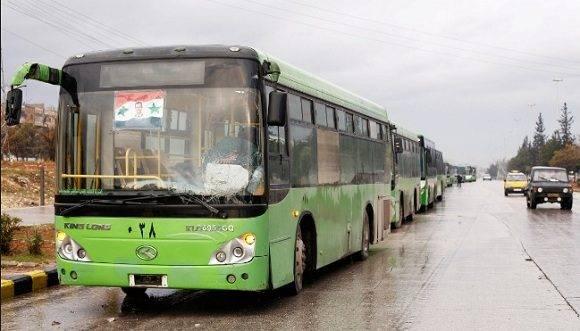 """Comienza evacuación de """"rebeldes"""" en Alepo. Foto: Agencias."""