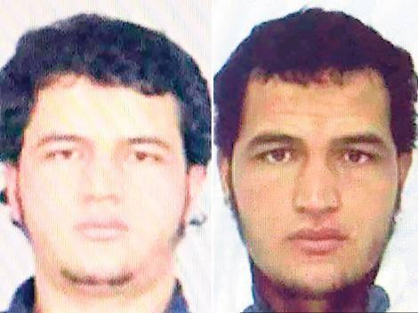 El identikit de Anis Amri; la fiscalía alemana comunicó que es buscado en todo el país y en Europa.