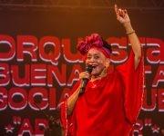 Omara Portuondo , la Diva de Buena Vista Social Club, en la culminación de su Adios Tour, en el teatro Karl Marx, en La Habana, el 14 de mayo de 2016. ACN FOTO/Marcelino VAZQUEZ HERNANDEZ/