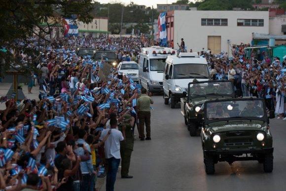 Tributo a Fidel en el oriente cubano Foto: Fernando Medina/Cubahora