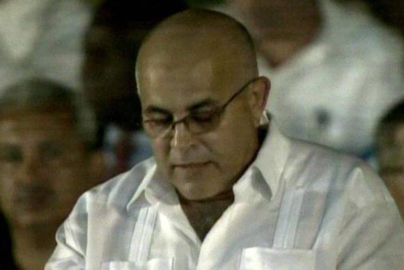 Carlos Miranda, coordinador nacional de los CDR. (Captura de Televisión)