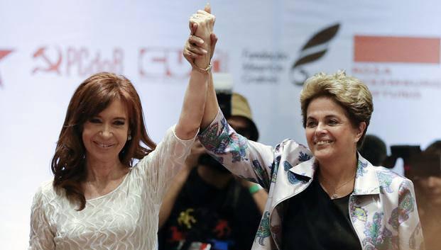 Las ex presidentas juntas en San Pablo, Brasil. Foto: DYN.