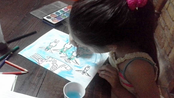 Dibujo Homenaje a Fidel