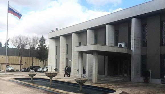 La embajada de Rusia en Siria. Foto: Mikhail Alaeddin/ Sputnik.
