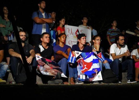 Silencio ante las palabras de Raúl en Santiago. Foto: Darío Gabriel Sánchez