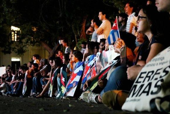 Esta noche se celebrará una vigilia dedicada al Comandante. Foto: Darío Gabriel Sánchez