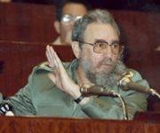 En la clausura del III Congreso de la Federación de Estudiantes Universitarios (FEU), el 10 de enero de 1987 / Autor: Estudios Revolución / Sitio Fidel Soldado de las Ideas.