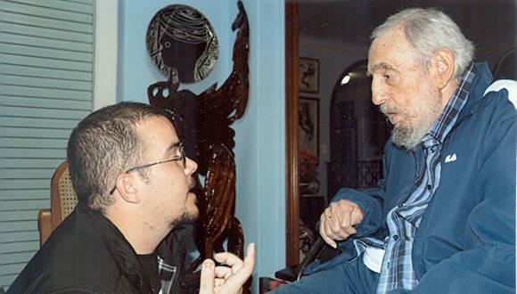 Encuentro con Randy Perdomo García, presidente de la FEU de la Universidad de La Habana, el 23 de enero de 2015. Foto: Cubadebate / Sitio Fidel Soldado de las Ideas.